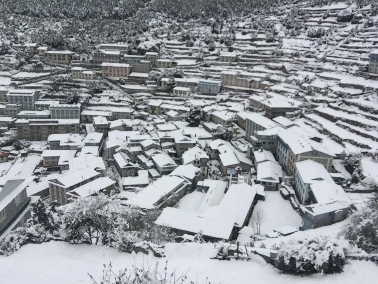 namche-snowfall